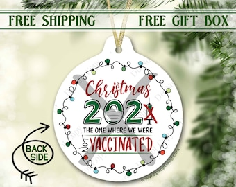 2021 Christmas Ornament | Anti-Vaxxer | NOT vaccinated | Personalized Ornament Christmas Tree | Covid Quarantine | Funny Gift for Her Him