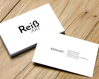 Individual design of double-sided business card bez Business Card according to your wishes