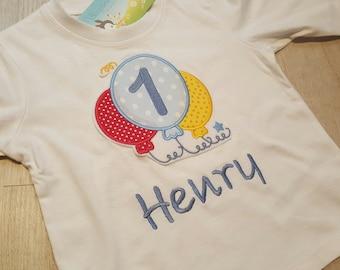 Birthday Shirt Balloons