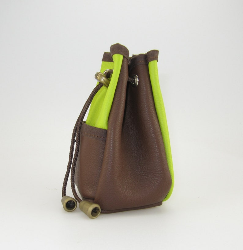 Leather lining bag also with name andor motif