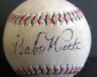 97fe8206214 Babe Ruth   Lou Gehrig Replica 1926 Autographed Baseball