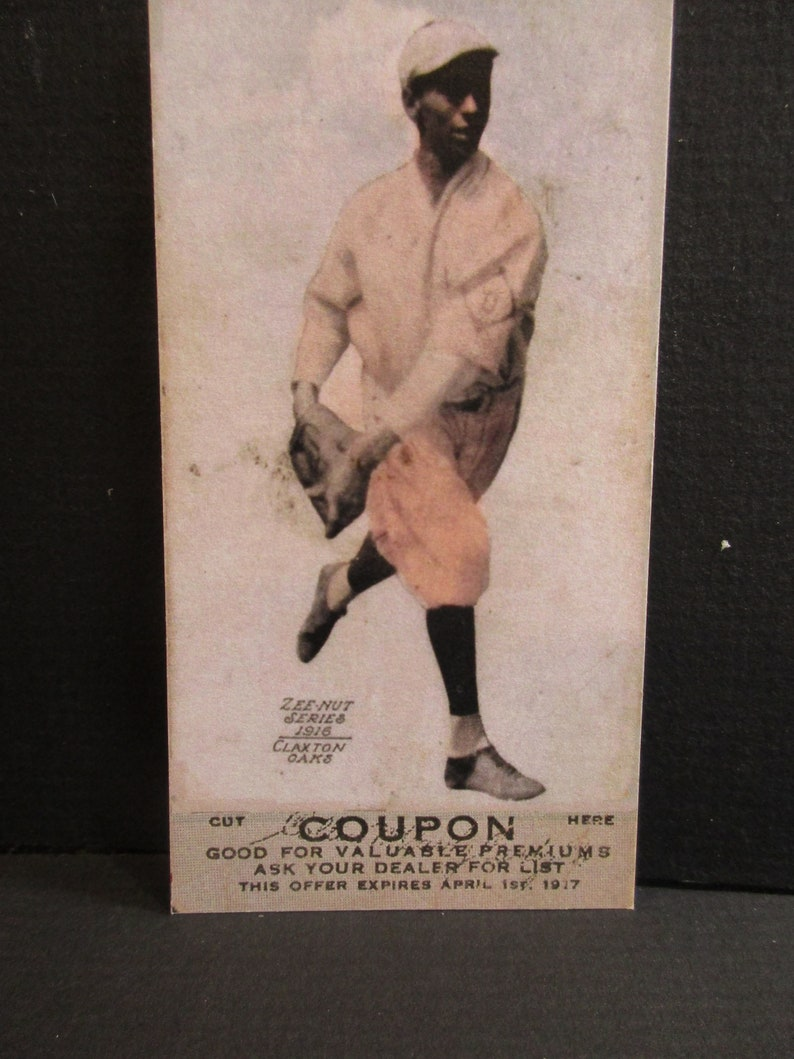 Jimmy Claxton 1916 Zeenut Reprint Baseball Card First Black Player Pictured On A Card 30 Years Before Jackie Robinson
