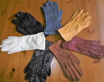 14846020bc1b7f Vintage Damenhandschuhe echtes sehr weiches Leder