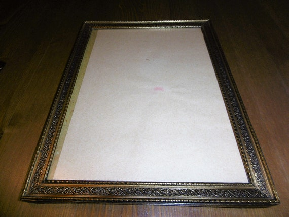Old metal picture Frames 30 years 25 cm x 19 cm