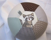 balloon cover quot racoon quot - baby shower christmas surprise - santaclausewoodland - animals - forest - shower favours - shower games - autumn -