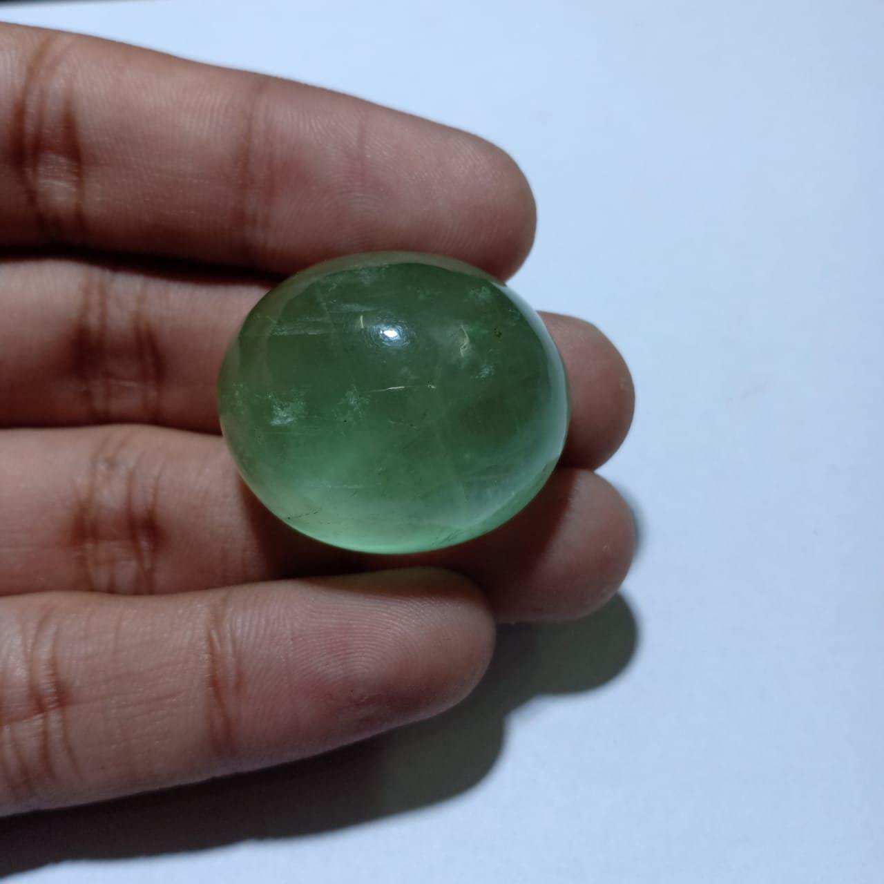 119.75 carat incroyable fluorine verte Cabochon pierres pour précieuses naturelles pour pierres GreenFlourite Cabochon Pierre taille 30 x 25 x 18 mm environ de fabrication de bijoux 35142b