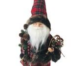 Kringle Woodland Santa, Table Decor, Christmas Decor, Fall Decor, DIY Crafts, Wreath Embellishments, Standing Santa