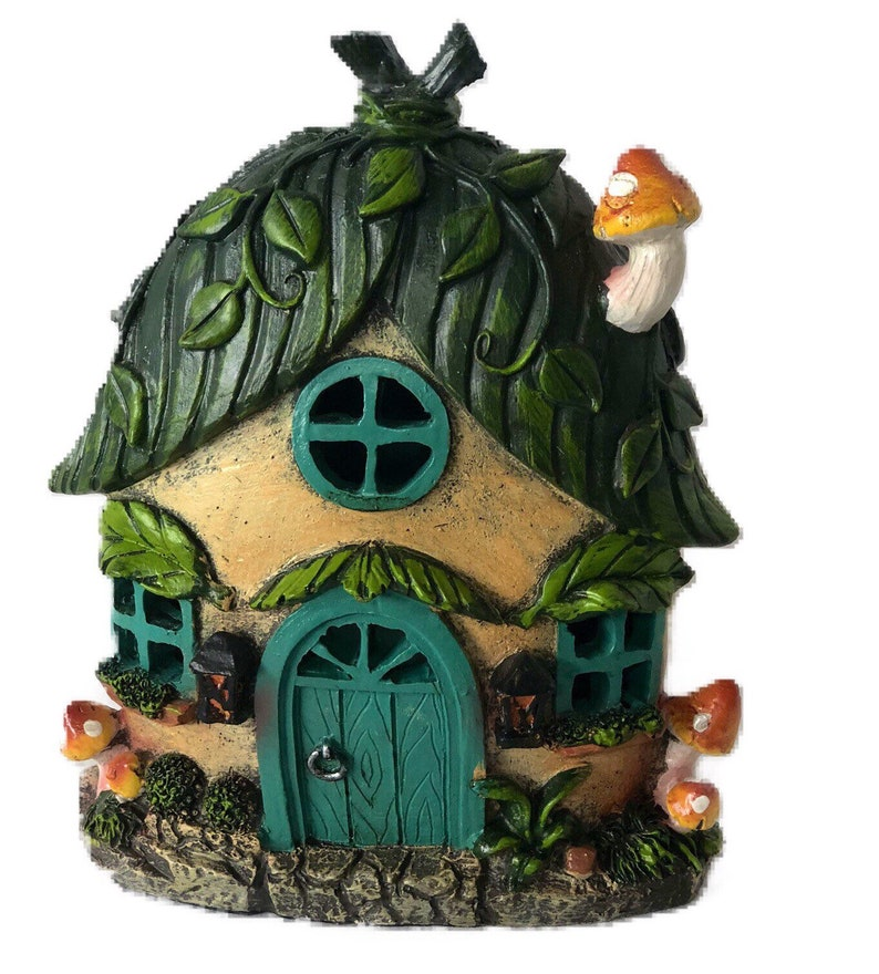 Solar Garden House, Fairy house, Miniature Gardening, Fairy Garden  Accessaries, Fantasy House, Mini Gardening Decor, Magical Garden