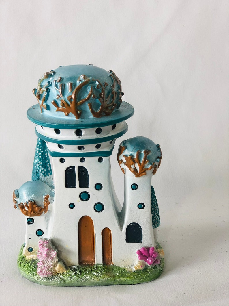 Fairy Garden Beach Castle DIY Fairy Garden Accessaries Miniature Gardning Decor Minature Gardening Minature Gnome House Fairy Castle
