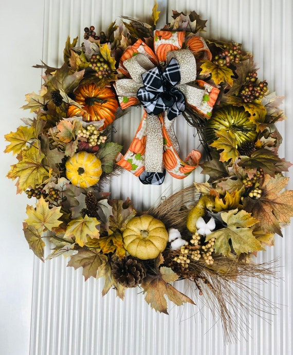 Southern Charm Wreaths Fall Wreaths For Front Door Pumpkin Wreath Holiday Wreaths Thanksgiving Wreaths Holiday Decor