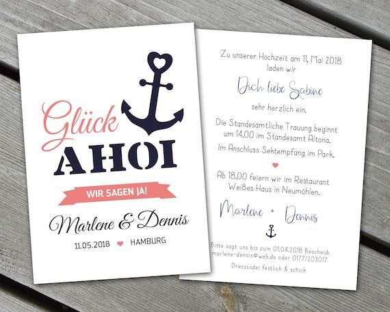 Einladung Hochzeit Maritim Ab 25 Stück