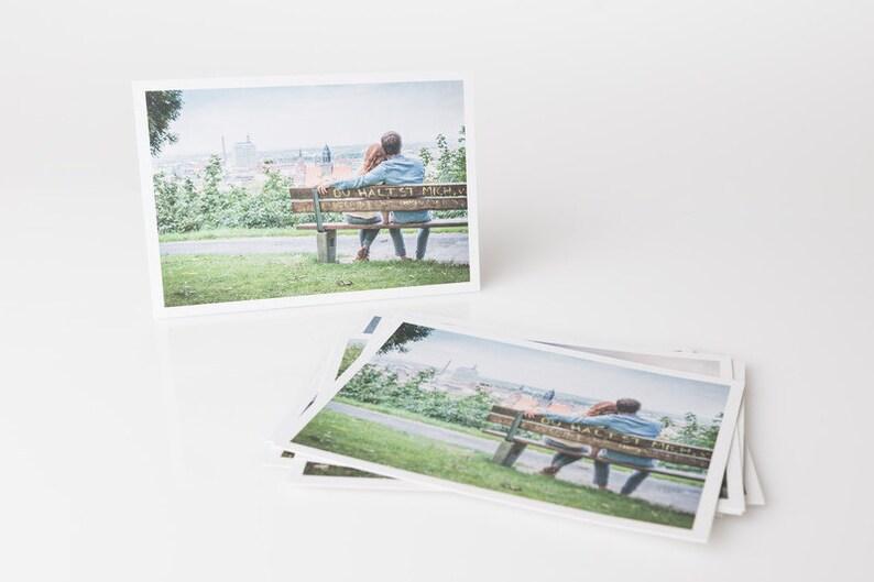 Postcard in Love Park Bench image 0