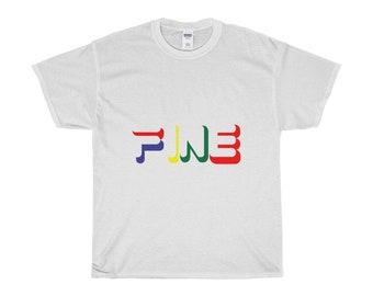 3e4b11d28 Fine Street Wear Unisex Heavy Cotton T Shirt FILA Inspired