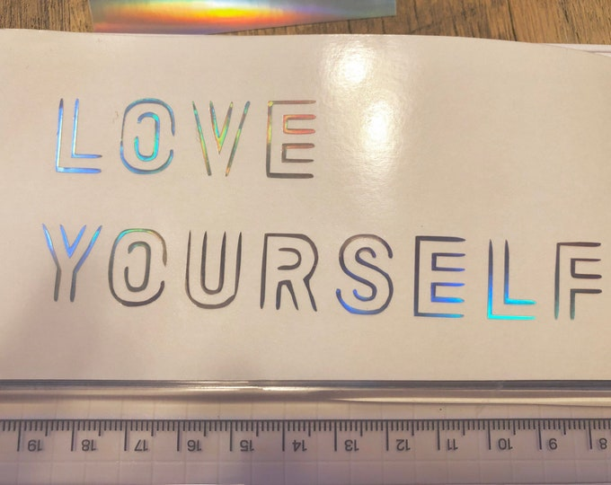 LIMITED EDITION - BTS Love Yourself Decal