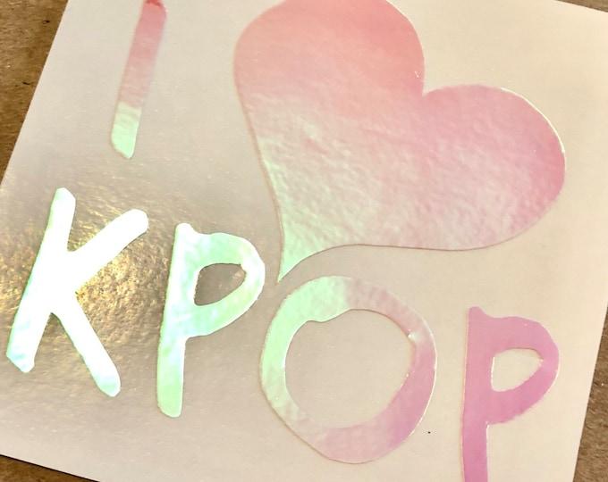 I Love KPop Decal