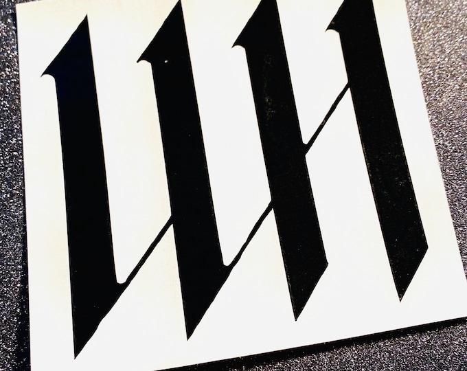Wonho Logo Decal