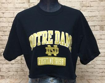 0bf69cf65 Notre Dame Cropped T-Shirt—Medium
