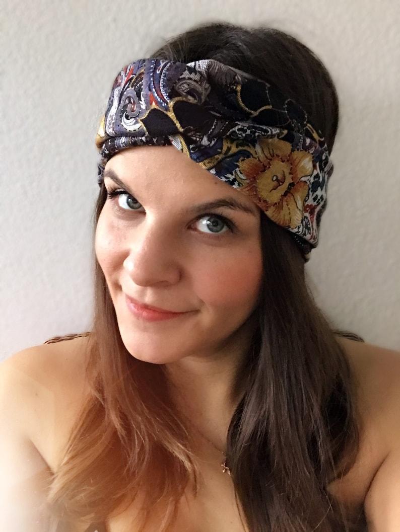 Hairband  Turban headband paisleybloom image 0