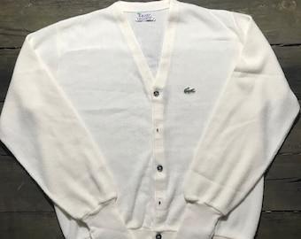 e4c246edc Vintage Lacoste Cardigan Sweater