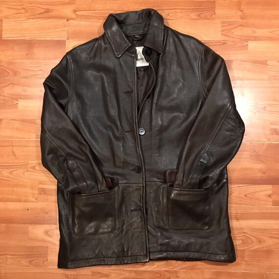 great discount for hot-selling authentic finest fabrics Avanti Mid Length Vintage Leather Jacket