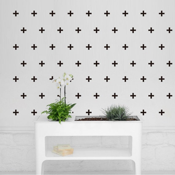 2/'/' Plus Cross Wall Stickers Vinyl Decal Removable Kid Nursery Decor Gold Mural