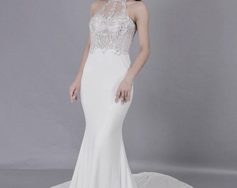 be9902e7f13 Mermaid Bridal Gown  Wedding Dress   Special Occasion Dress  Evening Luxury  Dress