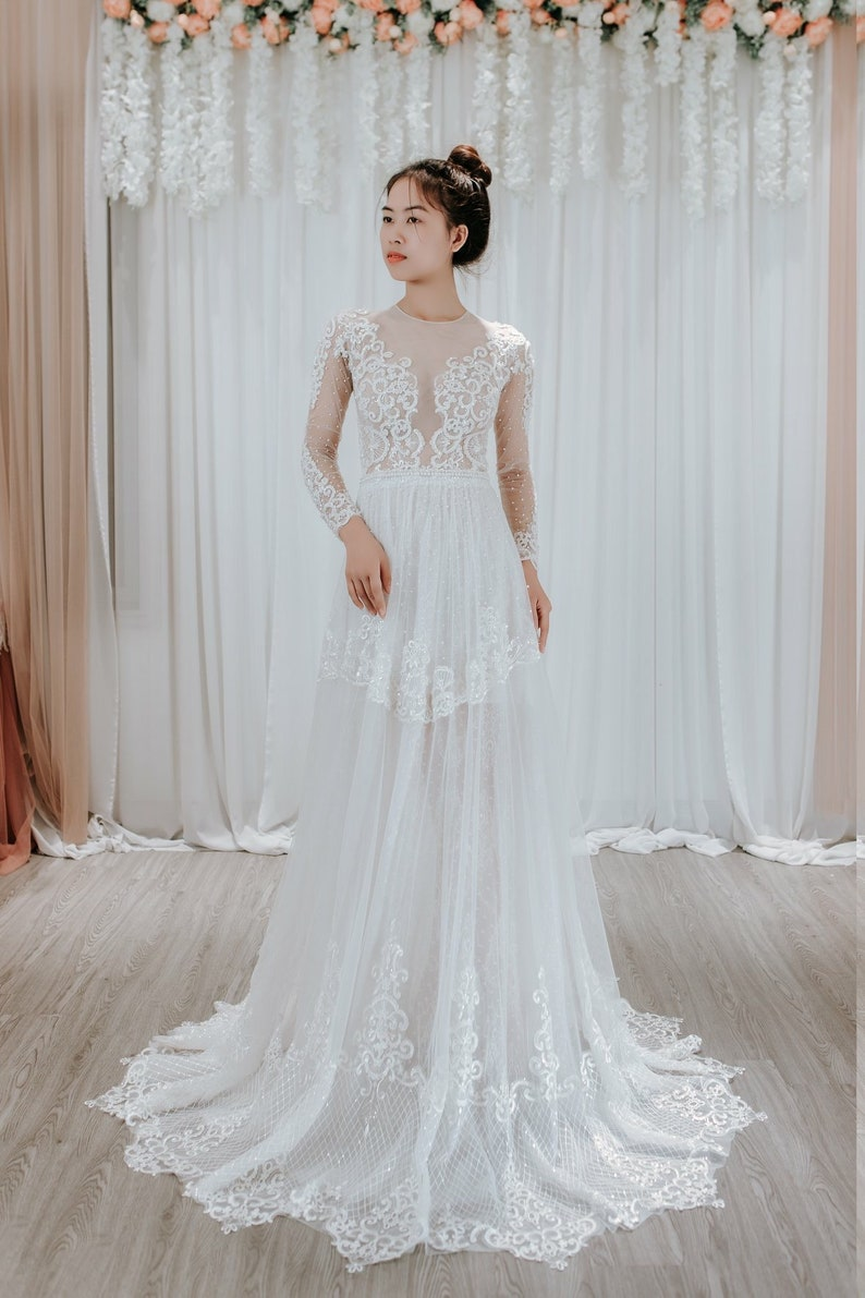 50bac239a4d Vintage Lace Wedding Dresses Long Sleeve - Gomes Weine AG