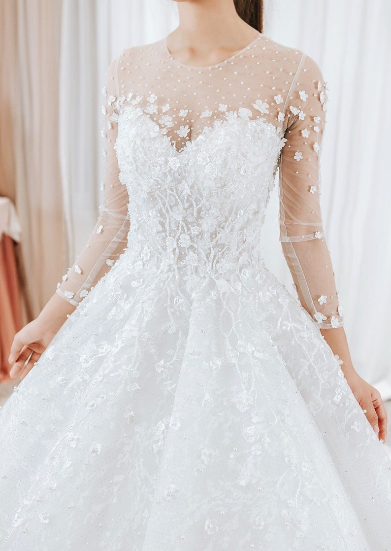 5e1d88de30 Long Sleeve Couture Wedding Dresses