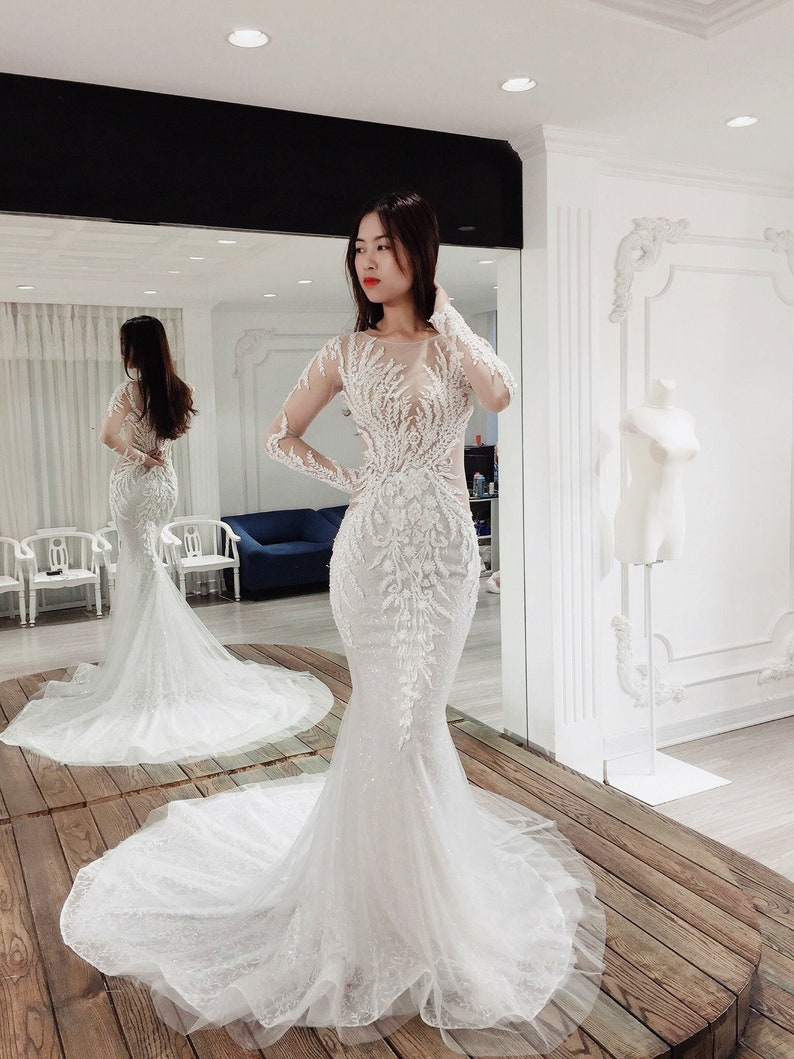 a1acb5e94f3 Mermaid Wedding Gowns With Long Sleeves - Gomes Weine AG