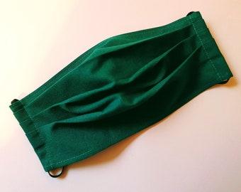 Single layer green fabric mask, thin, cotton, Christmas, Christmas, mouth nose mask, face mask, face mask, washable, Zero Waste