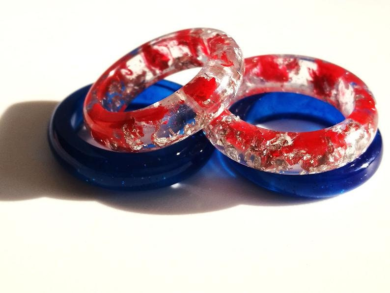 Transparent ring from resin
