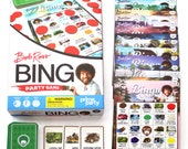People Who Have Favorited Bob Ross Deluxe Bingo Party Game For 16 Bob Ross Birthday Painting Party Painting Birthday Art Birthday Party Painting Art Party By Primeparty Etsy