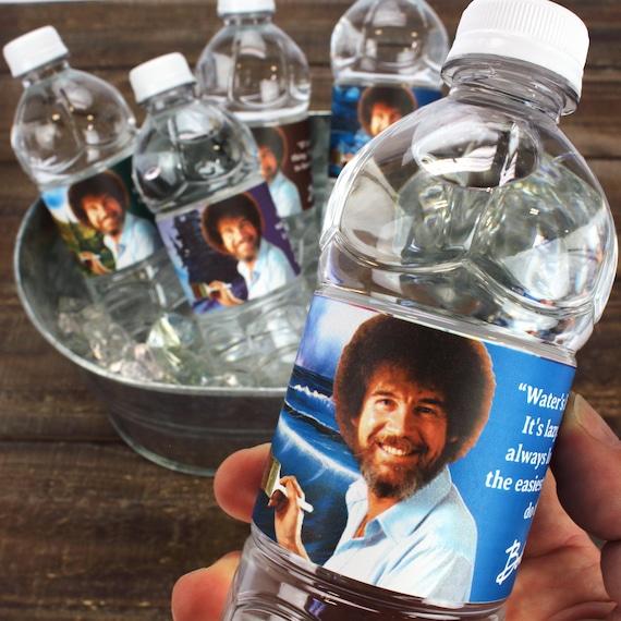 Bob Ross Water Bottle Labels Unique Quotes Paintings Etsy