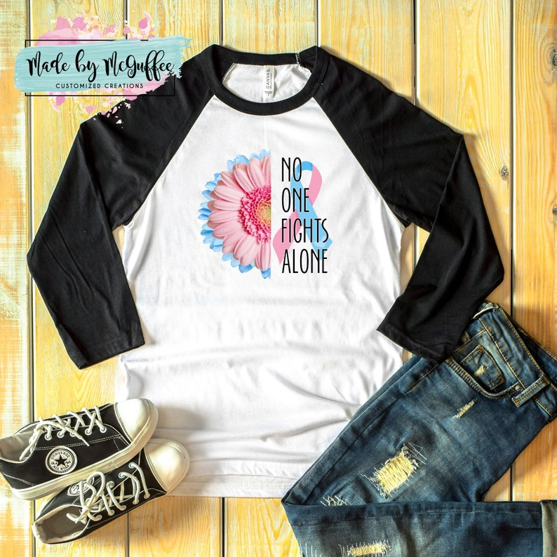 20ba413cf No One Fights Alone Pregancy and Infant Loss awareness T-Shirt