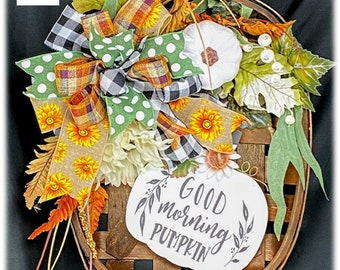 Fall Tobacco Basket. Pumpkin Tobacco Basket. Farmhouse Fall Decor.