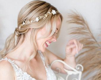 Bride Hair Wreath Hairband Headband Hair Accessories Boho Wedding Headdress Delicate Hair Flowers Dirndl Jewelry Handmade Bride Headdress Luxury