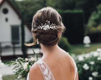 HYDRANGEAS BRIDE HAIR COMB Hair Jewelry Bride Flowers Hair Comb Headdress Wedding Hair Accessories Bridal Veil Flower Comb