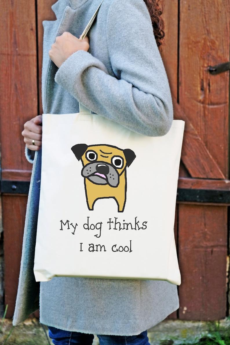 a860dfa56 Dog Pug bag painted funny handy shoulder bag Pug | Etsy
