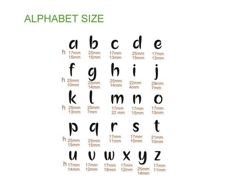 ALPHABET lowercase letters nr.5 stencil A4