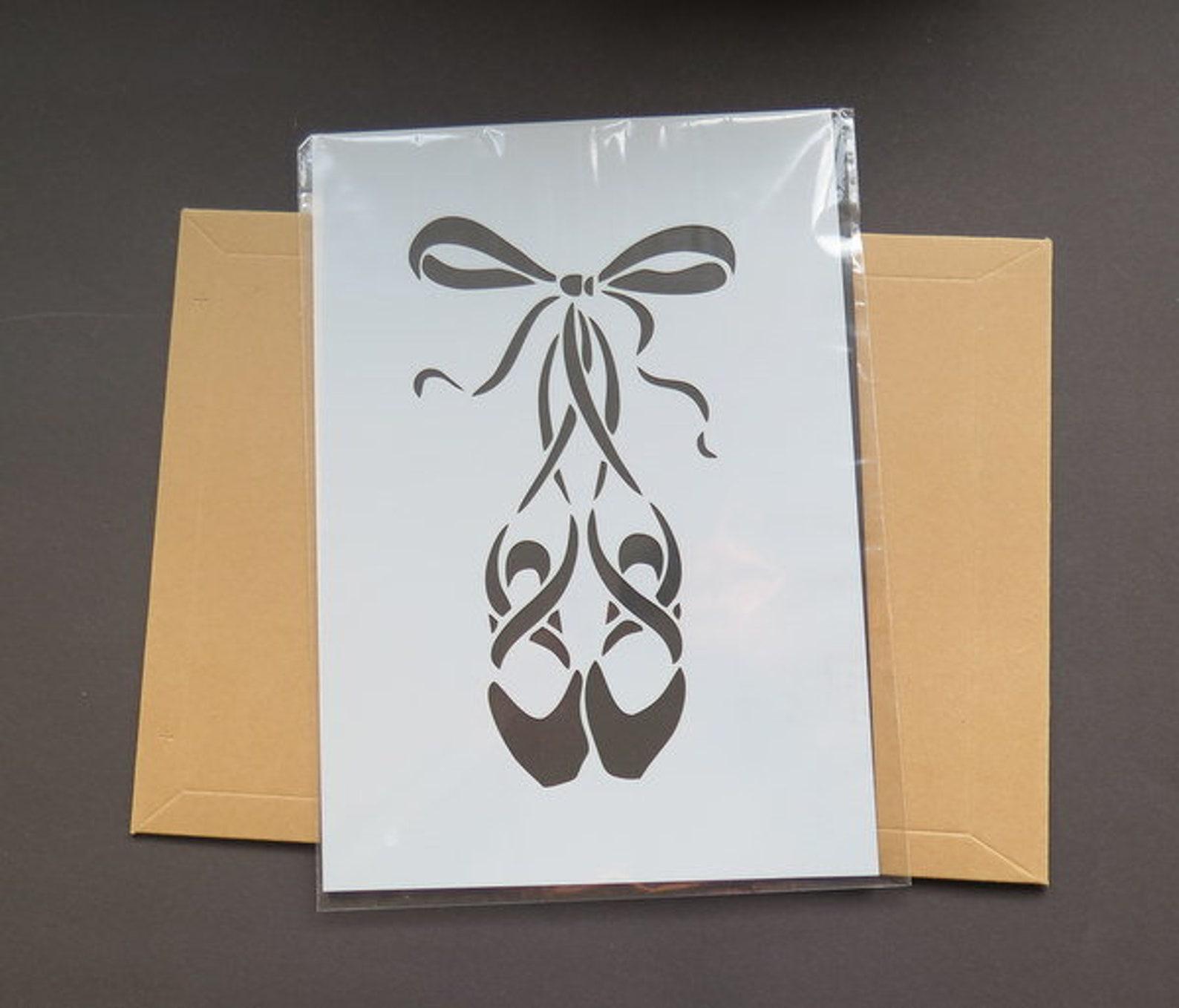 ballet shoes stencil din a4
