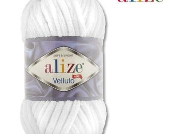 Alize 3 x 100 g Velluto PREMIUM Wolle329 TabakChenillegarn Samtwolle
