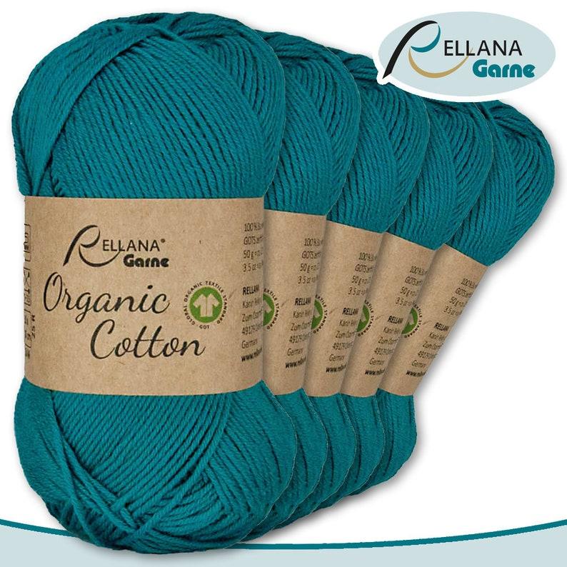 13 Rellana 5 x 50 g Organic Cotton 100/% Eco Cotton Handmade KnitTing Crochet Amigurumi