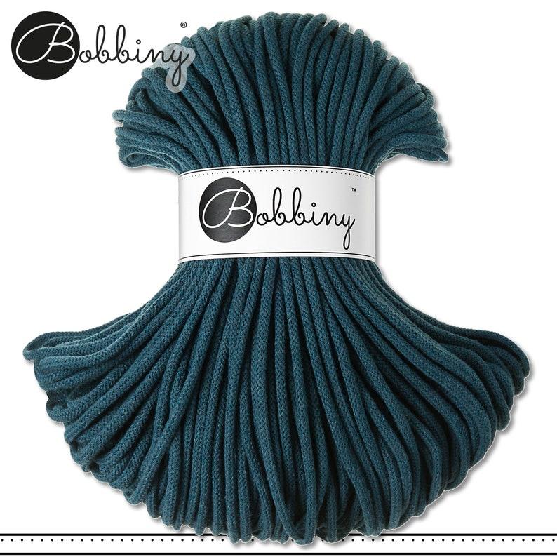 Peacock Blue Bobbiny 500 g 5 mm 100 m PREMIUM braided cord Crafting cotton