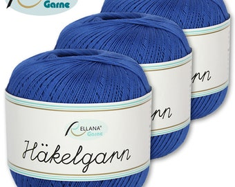 Rellana 3 x 50 g crochet yarn   22   100% cotton mercerizes and gasses amigurumi
