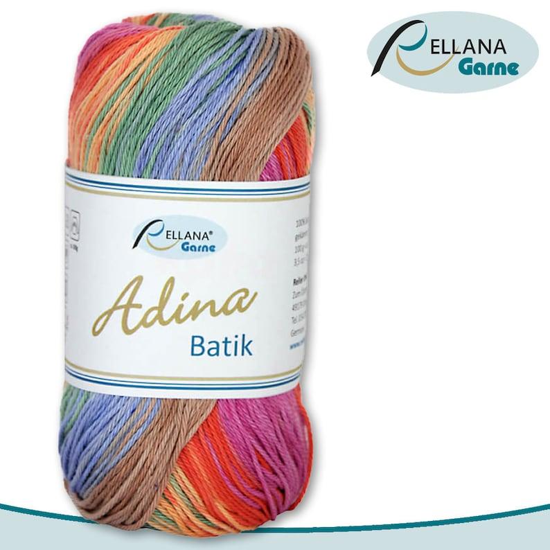 218 Rellana 100 g Adina Batik 100/% cotton mercerized gradient wool