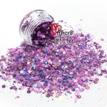 Lavender Holographic Glitter Mix Loose Glitter Chunky Glitter Solvent Resistant Polyester Glitter