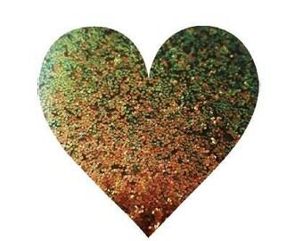 Color Shifting Fine Glitter Copper Green Loose Glitter Solvent Resistant Chameleon Glitter Cosmetic Glitter