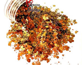 Color Shifting Glitter Mix Copper Gold Loose Glitter Chunky Glitter Solvent Resistant Polyester Glitter