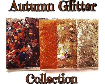 Autumn Glitter Mix Collection, Fall Glitter, Glitter Set, Chunky Glitter, Nail Glitter Cosmetic Glitter