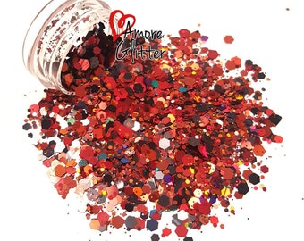 Fall/Autumn Holographic Glitter Mix Loose Glitter Chunky Glitter Solvent Resistant  Cosmetic Glitter